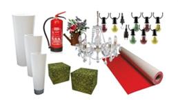 Verleih : Lampen, Kerzenständer farbig, Messeteppich, Magnetbodenbelag,