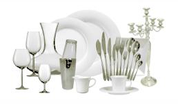 Verleih : Geschirr, Besteck, Gläser, Porzellan