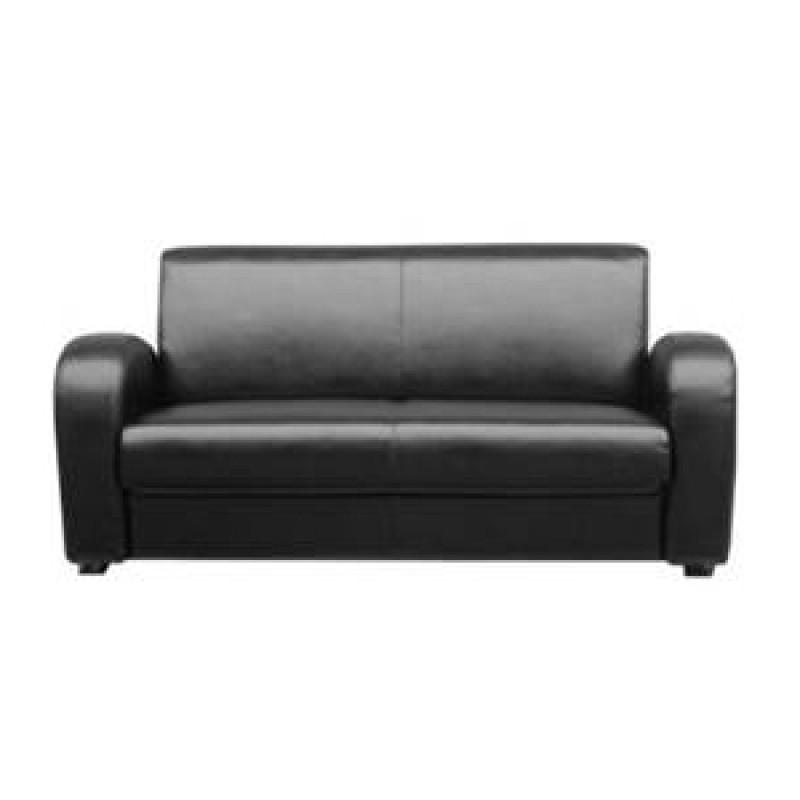 ledercouch boss schwarzbraun 3 sitzer. Black Bedroom Furniture Sets. Home Design Ideas