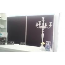 Kerzenständer weiß lackiert, COMET  80cm Höhe