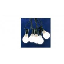 Lichterkette mit Glühbirne E27 klar