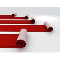 """m² Teppich """"Standard rot""""  2m breit, ohne Verlegen (B1)"""
