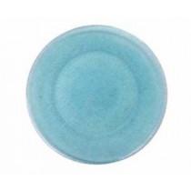 Platzteller Glas blau Textilstruktur
