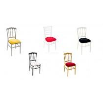 Bankettstuhl Sitzpolster für Stuhl Chivari / Chaltenham in den Farben gold weiß schwarz rot