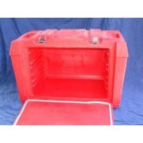 Thermobox mit Einschubleisten 6 1/1 GN, rot (ohne GN-Einsätze)