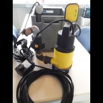 Zulaufpumpe im Pumpensumpf für Fettabschneider mit Schneidwerk Box 40 x 30 cm Schalthöhe elektronisch ab 10cm Wasserstandshöhe
