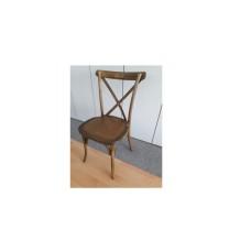 Cross Chair Holzstuhl Braun