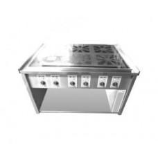 Elektroherd 6-fach Ceran, Standgerät, Unterbau offen 32A CEE / 24 kw