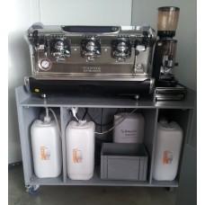 Kaffeemaschine FAEMA 3- gruppig autark, mit Wassertanks, MESSE, 16A Cee 12 kw