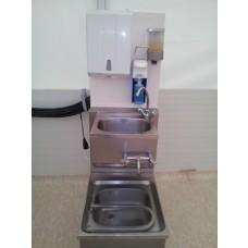 Handwaschbecken mit Hygienestation