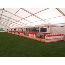 Foto zeigt ein Zelt als Beispiel in der Größe 4 x 4 m