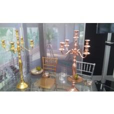 Kerzenständer Gold oder Kupferfarben lackiert