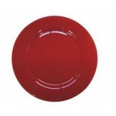 Platzteller Glas rot