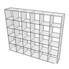 """Regal / Raumteiler / Rückwand """"Dekoplex 6 x 5"""""""