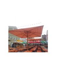 Sonnenschirm gestreifter Stoff 4 x 4 m