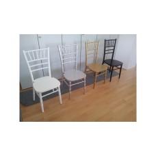 Stuhl Chivari silber, incl. Sitzpolster silber