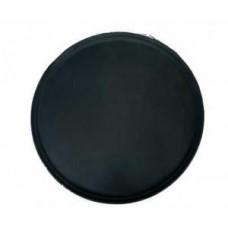 Tablett rund, schwarz