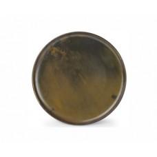 Teller flach rund 26cm Escura dark brown