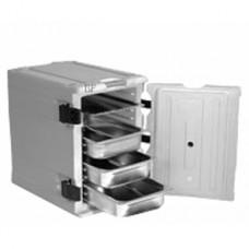 Thermobox mit Einschubleisten 12 1/1 GN, schwarz (ohne GN-Einsätze)