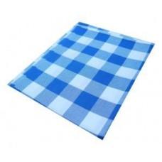 Tischdecke  weiß blau kariert für Biertisch 220x50 cm