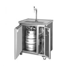 Zapfanlage 1-läufig fahrbar mit Kühlschrank (kein Durchlaufkühler!) 230V